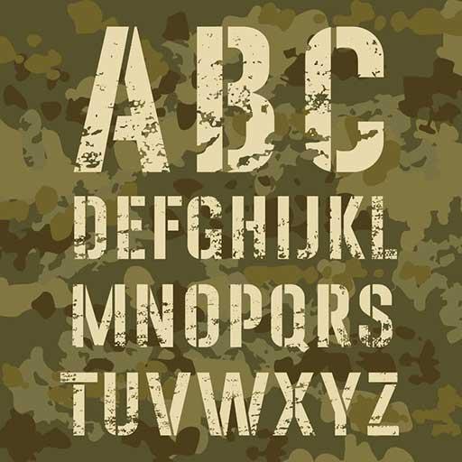 stencil lettering icon