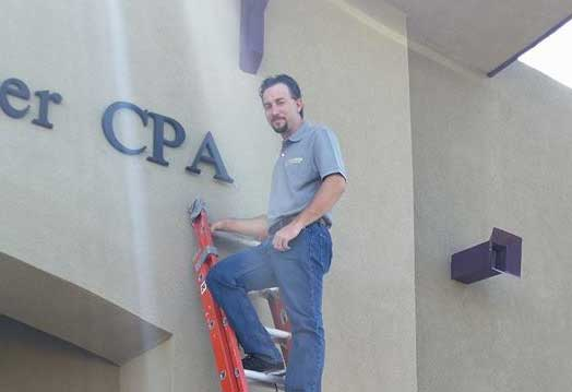 sign installation Tucson