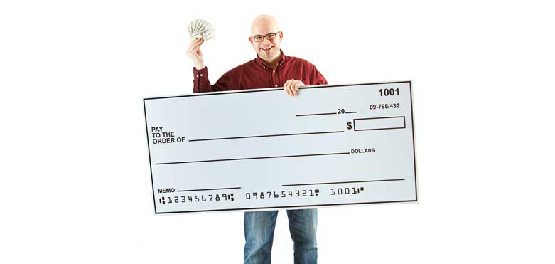 Uses of giant checks